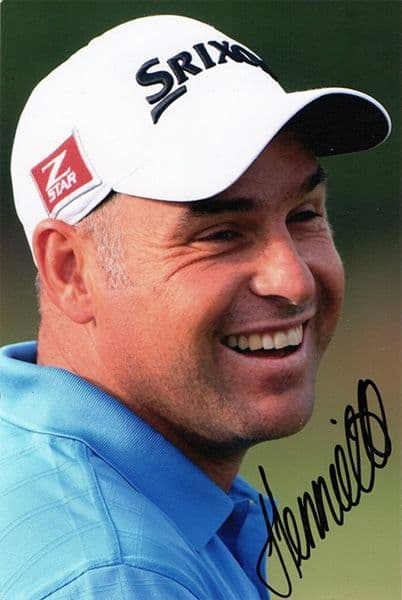 Hennie Otto, South African golfer, signed 6x4 inch photo.