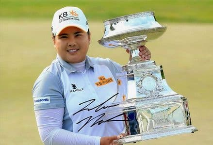 Inbee Park, signed 12x8 inch photo.