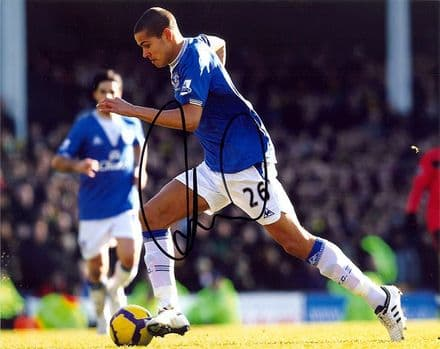 Jack Rodwell, Everton & England, signed 10x8 inch photo.
