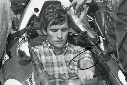 Jacky Ickx, Belgian F1 driver, signed 12x8 inch photo.