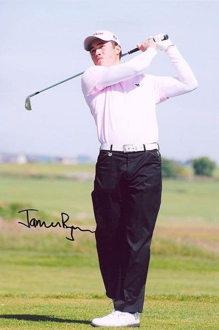 James Byrne, Scottish golfer, signed 12x8 inch photo.