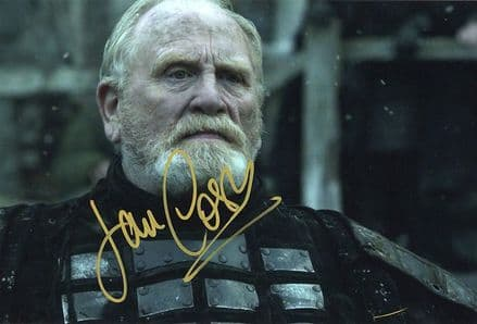 James Cosmo, Scottish actor, signed 12x8 inch photo.