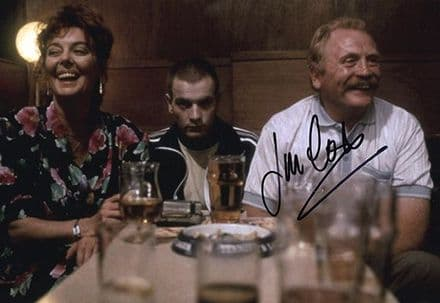 James Cosmo, Trainspotting, signed 12x8 inch photo.