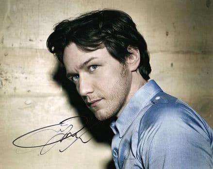 James McAvoy, Scottish actor, signed 10x8 inch photo.
