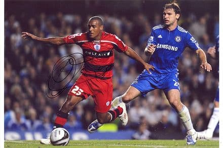 Jay Simpson, QPR, signed 12x8 inch photo.