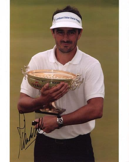 Jean van de Velde, French golfer, signed 10x8 inch photo.