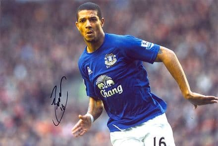 Jermaine Beckford, Everton, signed 12x8 inch photo.