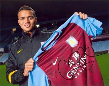 Jermaine Jenas, Aston Villa & England, signed 10x8 inch photo.