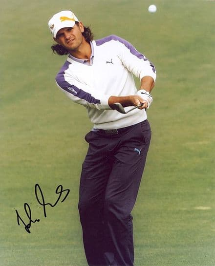 Johan Edfors, Swedish golfer, signed 10x8 inch photo.