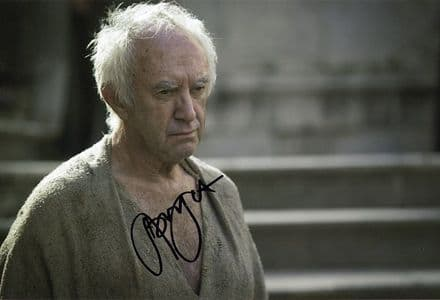 Jonathan Pryce, Game of Thrones, signed 12x8 inch photo.(2)