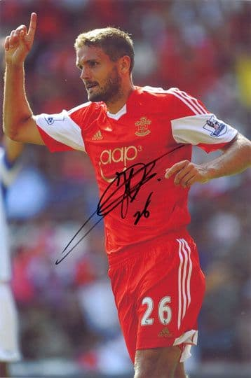 Jos Hooiveld, Southampton, signed 12x8 inch photo.