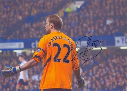 Jussi Jaaskelainen, Bolton Wanderers & Finland, signed 11.5x8.0 inch photo.