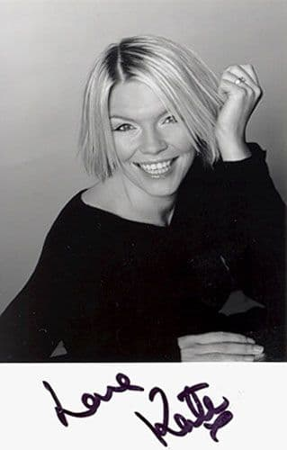 Kate Thornton, signed 5.5x3.5 inch photo.