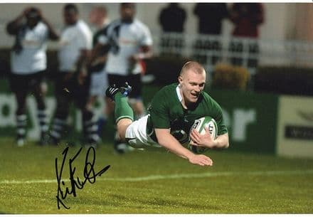 Keith Earls, Munster & Ireland, signed 12x8 inch photo.