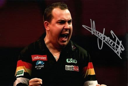 Kim Huybrechts, PDC darts player, signed 12x8 inch photo.