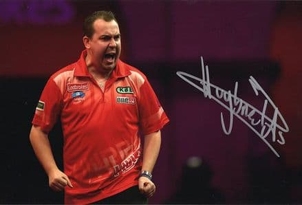 Kim Huybrechts, PDC darts, signed 12x8 inch photo.