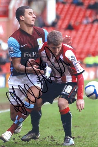 Kyle Walker, Aston Villa, signed 6x4 inch photo.