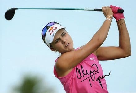 Lexi Thompson, signed 12x8 inch photo.