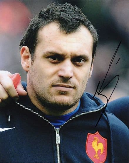 Lionel Beauxis, France, Toulouse,  signed 10x8 inch photo.
