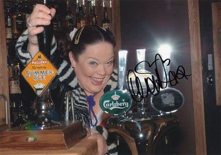 Lisa Riley, Emmerdale, signed 11.5x8.0 inch photo.