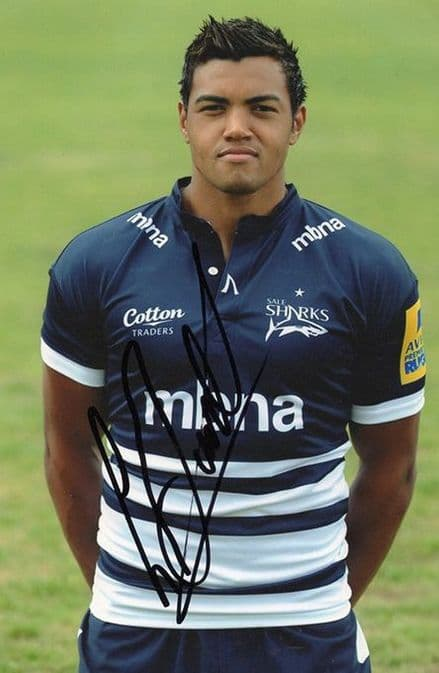 Luther Burrell, Sale Sharks & England, signed 6x4 inch photo.