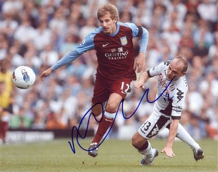 Marc Albrighton, Aston Villa, signed 10x8 inch photo.