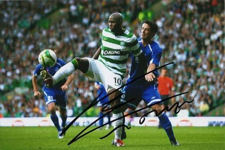 Marc-Antoine Fortune, Glasgow Celtic,  signed 6x4 inch photo.