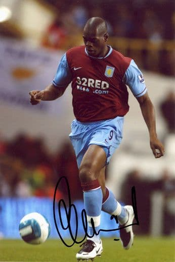 Marlon Harewood, Aston Villa, signed 12x8 inch photo.