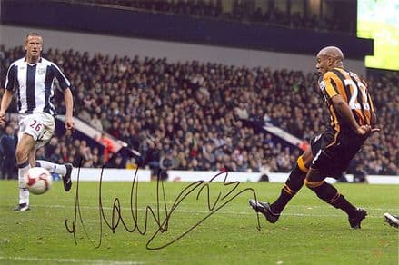 Marlon King, Hull City, signed 12x8 inch photo.