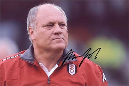 Martin Jol, Fulham, signed 12x8 inch photo.