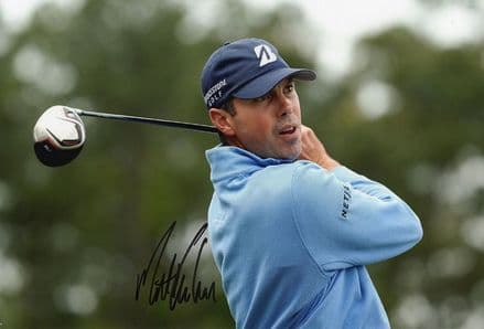 Matt Kuchar, PGA Tour golfer, signed 12x8 inch photo.