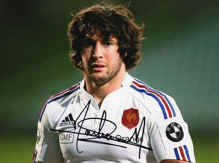 Maxime Machenaud, France, Racing Metro,  signed 8x6 inch photo.
