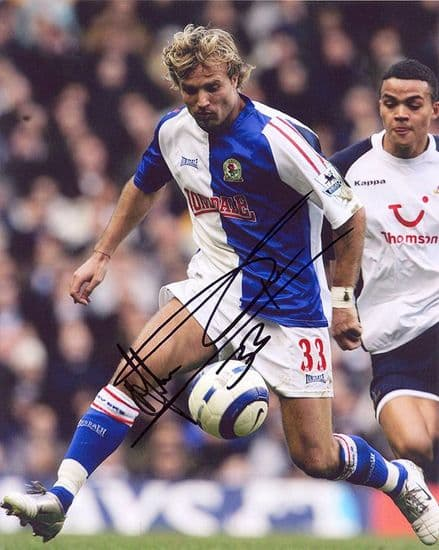Michael Gray, Blackburn Rovers, signed 10x8 inch photo.