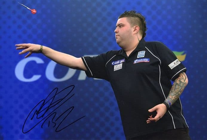 Michael Smith, PDC darts player, signed 12x8 inch photo.