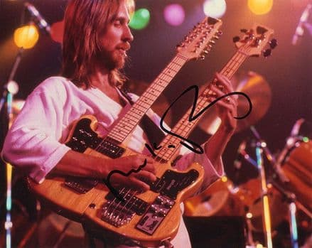 Mike Rutherford, Genesis, signed 10x8 inch photo.