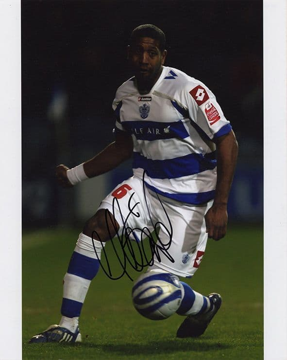 Mikele Leigertwood, QPR, signed 10x8 inch photo.