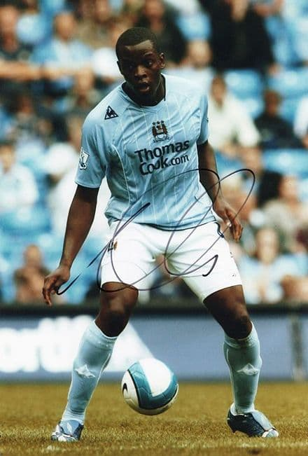 Nedum Onuoha, Manchester City, signed 12x8 inch photo.(2)