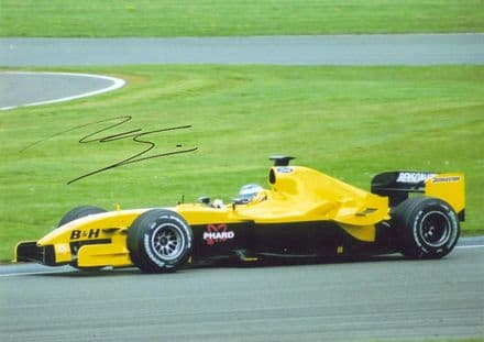 Nick Heidfeld, Jordan F1, signed 10x7 inch photo.