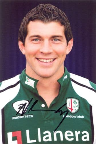 Nick Kennedy, London Irish, signed 6x4 inch photo.(2)