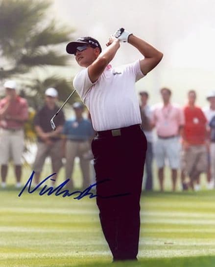 Niclas Fasth, Swedish golfer, signed 10x8 inch photo.