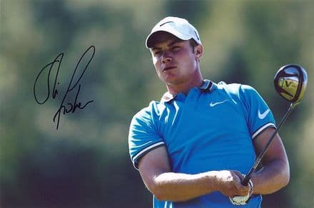 Oliver Fisher, English golfer, signed 12x8 inch photo.