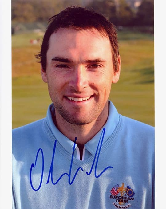 Oliver Wilson, Ryder Cup 2008 Valhalla, signed 10x8 inch photo.