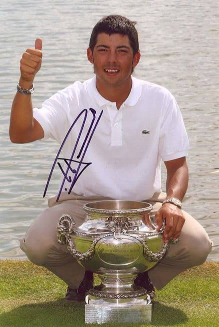 Pablo Larrazabal, Spanish golfer, signed 12x8 inch photo.