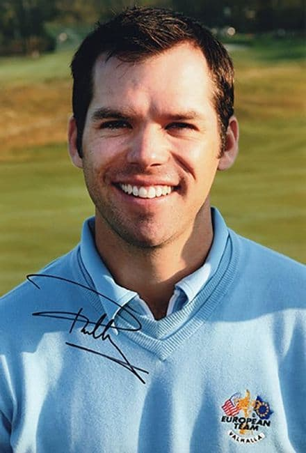 Paul Casey, Ryder Cup, signed 12x8 inch photo.