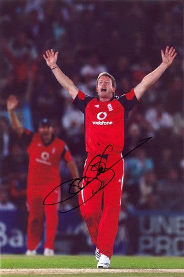 Paul Collingwood, Durham & England, signed 12x8 inch photo.