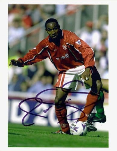 Paul Ince, Middlesbrough, signed 10x8 inch photo.