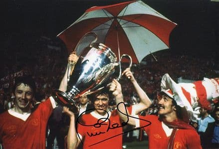 Phil Neal, Liverpool, European Cup, signed 12x8 inch photo.