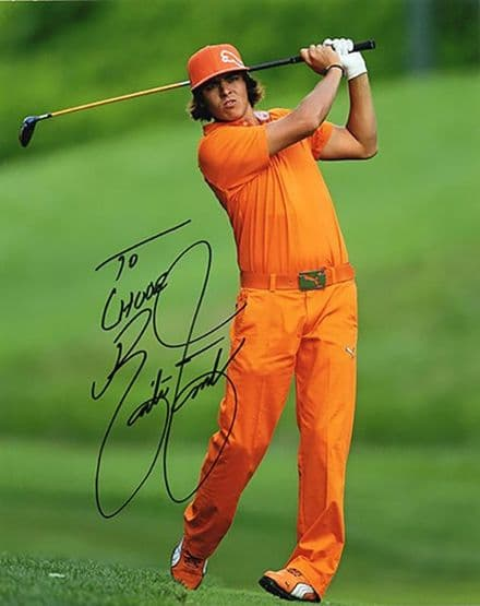 Rickie Fowler, American golfer, signed 10x8 inch photo.