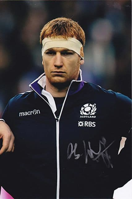 Rob Harley, Glasgow Warriors & Scotland, signed 6x4 inch photo.