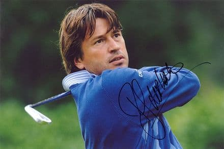 Robert Jan Derksen, Dutch golfer, signed 12x8 inch photo.